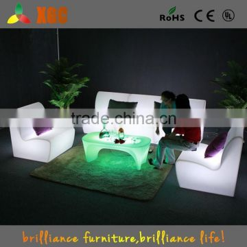 outdoor leisure white rattan sofa with table/modern sofa furniture