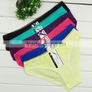 Plain Color ladies Briefs Cotton Material and Sex Underwear Product Type Sexy Lingerie