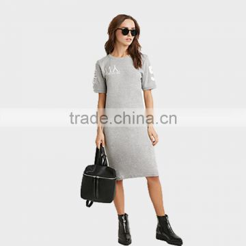 womens clothing summer 2015 short sleeve 100%cotton dresses