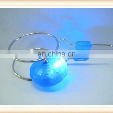 Plastic flashing round orbit yoyo ball toys