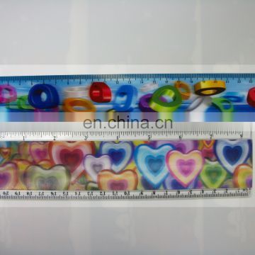 high quality lenticular effect UV printed tailors ruler