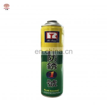 Wholesale rust remover spray anti rust spray  tin can with paint spray from guangzhou
