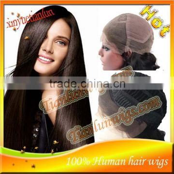 Cheap Natural Hairline Silk Straight Brazilian human hair Full Lace wigs&Lace Front wigs with baby hair Fast Delivery HOT!!