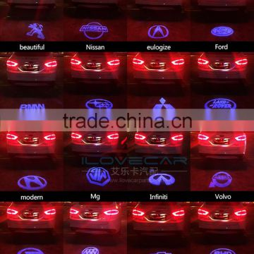Cool ! Various car tail LOGO lamp, easy installation waterpoof car tail LOGO light
