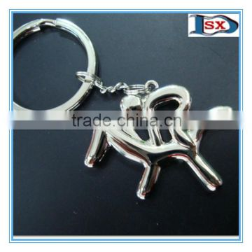 3D sports badminton and shuttlecock racket keychain sets for sportsmen