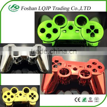 Custom housing shell for PS3 Controller shell Gold golden Chrome Shell Mod Kit + Matching Buttons set