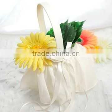 2015 Crystal and Pearl Wedding Flower Girl Baskets artificial flower hanging baskets wedding Flower Baskets with Beaded Pattern