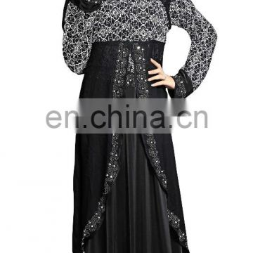 2017 Dubai Printed Burkha With Koti (Jacket) Style For Women's Casual Wear ( Abaya Burqa For Islamic Wear )