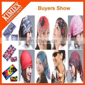 2017 OEM wholesale top quality Customized Printed Tube Bandana / headwear stretchy bandana
