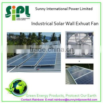 Vent tool solar panel large scale industrial exhaust fan with dc motor air ventilation