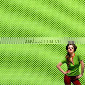 2017 fashion feelcool dyed polyester fluorescent mesh fabric for sportwear