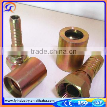 Factory male or female JIC hydraulic hose fittings by CNC