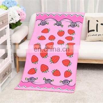 Logo Name Floral Digital Printing Beach Towel