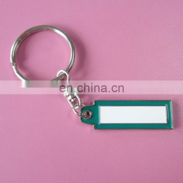wholesale custom simple company logo souvenir gift metal keychain with soft enamel