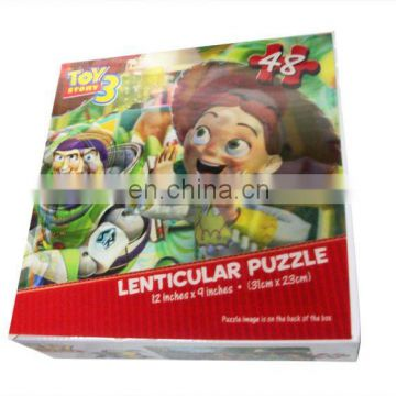 High quality cartons 3d lenticular packing box