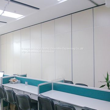 Finished Melamine Decorative Panels Aluminium Accessories Sliding Doors Office Wooden Partition Wall