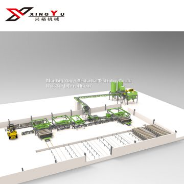 Building material machinery full-automatic wall panel producing line