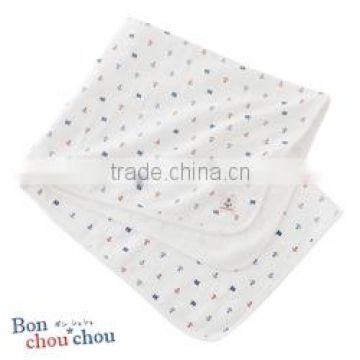 Japanese wholesale products cute flower pattern soft natural cotton 100% gauze and pile baby bath towels for girl
