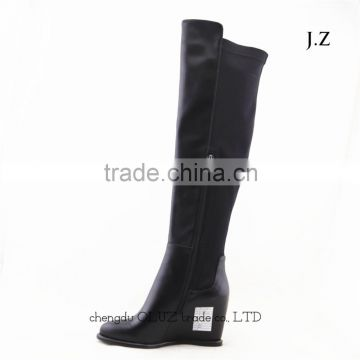 LQEB34 unique winter wedge boots fuzzy lining winter boots mukluk winter boots rubber outsole