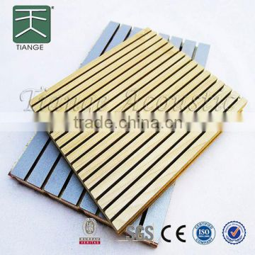 grooved acoustic panel MDF fireproof melamine acoustic