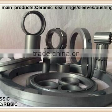 Corrosion abrasion and high temperature resistance ceramic ring in direct sintered silicon carbide(SSiC/SiSiC)