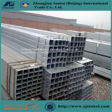 Black iron square steel tube with hollow steel pipe