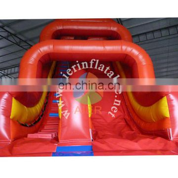 red water slide inflatable pool outdoor party for adults kids