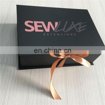 New born hair extension accept custom logo design boxes for gift toy packed