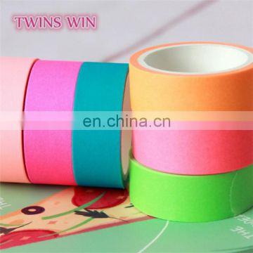alibaba china factory price wholesale Office & School use 3m candy color Single Sided paper masking tape