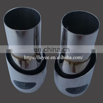 Stainless steel Titanium blue bevel car exhaust tip