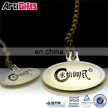 Gold plated custom women dog tags with container
