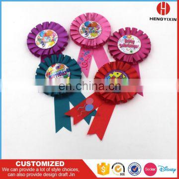 High quality handmade award ribbon rosette/ribbon flower