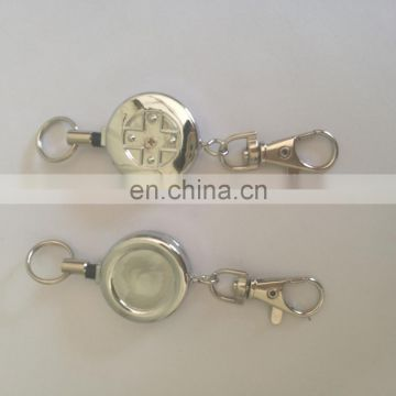 Retractable metal yoyo keychain key ring