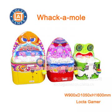 China Zhongshan Locta redemption amusement park equipment Whack-a-mole indoor, coin operated, frog