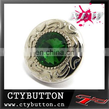 High quality emerald rhinestone buttons for dress