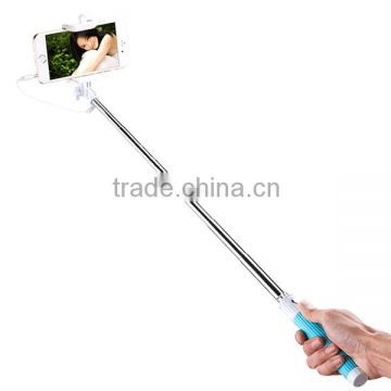 Factory Price 2015 New!! cable take pole for mobile phone/Smartphone/iphone Monopod