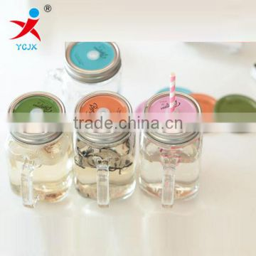 high temperature resistant clear large cylinder tableware/drinkware wholesale/recycled,wide moutu glass cups with lids