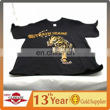 Round neck casual wear 100% cotton t-shirt,men's t-shirt with offset and flocking printing