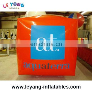 Fresh cube inflatable giant balloon/advertising huge helium balloon/0.18mm PVC balloon
