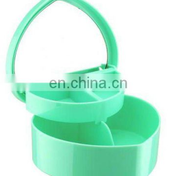 mirror Heart-shaped plastic cosmetic box