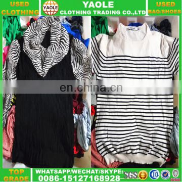 2016 YAOLE used clothes factory sale exporter of used clothing bales 100kg