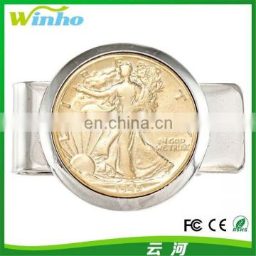 Winho Tourist Souvenir Gold Money Clip with Coin