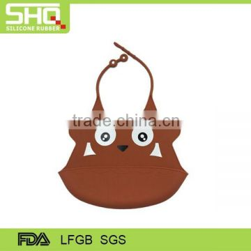 Factory direct hot selling baby products FDA rubber custom printing logo waterproof silicone baby bib