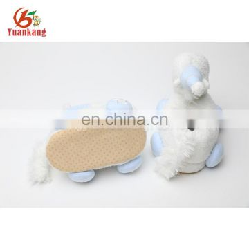 Custom kids new style unicorn plush slippers