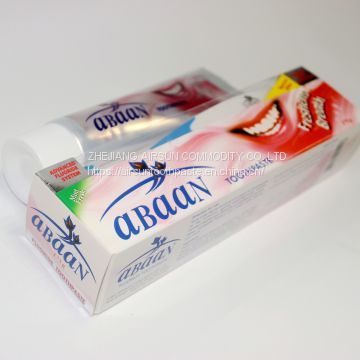 AS-AB02 175g ABAAN special offer maximum cavity protection freshness breath mint fresh advanced flouride system freshens