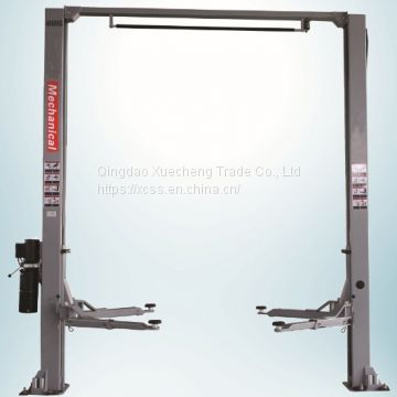 manual lock release clear floor auto lift 2 post gantry car lift 4000kgs