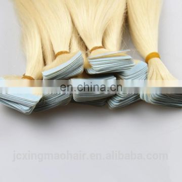 Factory price high quality 100% Indian human hair extensions tape in