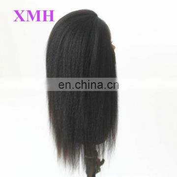 New arrival high grade yaki straight full lace wig brazilian hair wigs for black women