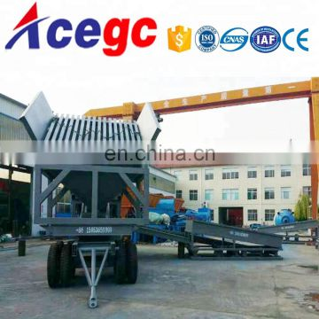150-200T/H Mobile Alluvial Gold Trommel Washing and Processing Plant