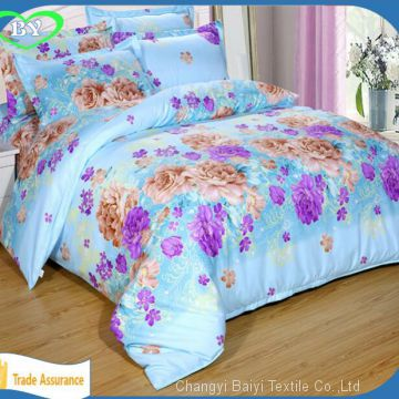 High quality 100% polyester bed sheets printed fabric polyester for textile printed bedsheeting fabrics home textile